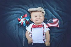 Baby Boy 4th of July Outfit. Cute Patriotic Clothes for Infant Boys. July 4th Onesie.