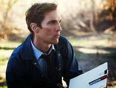 Picture: Matthew McConaughey in 'True Detective.' Pic is in a photo gallery for 'True Detective' featuring 12 pictures. Matthew Mcconaughey, True Detective Season 1, Detective Series, Michelle Monaghan, Woody, T Bone, Trailers, Drama, Libros