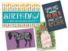 Postcard Book- Birthday