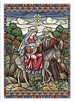 stained_glass_flight_into_egypt_religious_christmas_card__70575.1393442180.1280.1280.jpg (350×485)