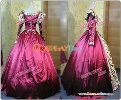 Renaissance Colonial Wedding Dress Ball Gown