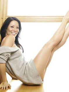 Lucy Liu gets a kick out of Pilates