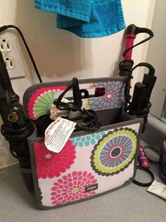 Double Duty Caddy holds all hair essentials! #hair #organization #Thirty-One