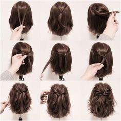 25 fast hairstyles for medium and long hair for every day. 25 fast hairstyles for medium and long hair for every day. 25 fast hairstyles for medium and long hair for every day. 25 fast hairstyles for medium and long hair for every day. Short Hair Styles Easy, Braids For Short Hair, Medium Hair Styles, Curly Hair Styles, Long Ponytails, Twisted Ponytail, Hair Medium, How To Style Short Hair, Hairstyle Short Hair