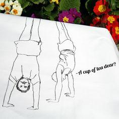 A Cup of Tea, Dear? tea towel - Designer tea towels from ToDryFor.com