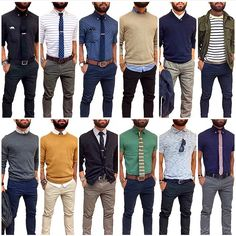 mentions J'aime, 110 commentaires - J Fig Casual Wear, Casual Outfits, Men Casual, Outfit Grid, My Outfit, Ropa Semi Formal, Look Fashion, Mens Fashion, Style Masculin