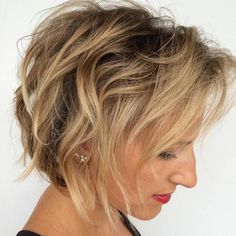 tousled bob for fine hair