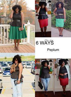 My Curves & Curls™ | A Canadian Plus Size Fashion blog: Closet Remix: Peplum Top 6 ways
