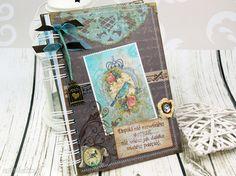 Pamiętnik- różany ogród scrapbooking notesy shiraja notes