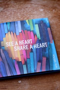 boy sees heart book - a good pick for Valentine's Day