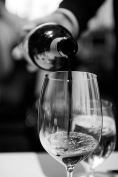 wine, wine glass, black and white photography
