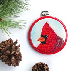 This little bird of hope is back in my shop after a brief visit to a local gallery. Brighten up your winter with some woodland cheer by visiting http://ift.tt/1LtSWVn!  #cottagelife #cottagecountry #winterdecor #cardinal #countrycottage #inspiredbynature