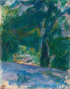 Sigrid Schauman (1877-1979), Motif from the Park, n.d. oil on board, 41x33 cm.
