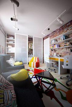 Casinha colorida: Home Tour: morando em uma casa rústica na cidade