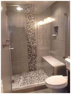 Small Bathroom Shower Tile Design: Completed Shower Door In Denver, Colorado Bathroom Design Small, Bathroom Interior Design, Modern Bathroom, Bathroom Mirrors, Minimalist Bathroom, Bathroom Faucets, Small Bathroom Showers, Seashell Bathroom, Small Bathrooms