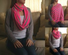 Infinity scarf/ nursing cover! Wish I had one of these!!!