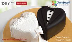 ÇiçekSepetin'den harika bir kampanya daha.Söz, Nişan ve Düğün Törenlerine Özel Mutluluk Dolu Sürprizler ÇiçekSepeti'nde.Gelin Damat Tasarım Pasta GP106 Sadece 135TL+KDV.