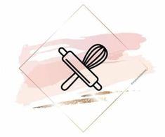 Instagram Logo, Instagram Symbols, Instagram Design, Cake Logo Design, Food Logo Design, Instagram Theme Ideas Color Schemes, Logo Dulce, Shop Name Ideas, Dessert Logo