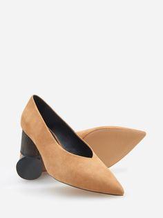 Lodičky s kulatým podpatkem, RESERVED, Heeled Mules, Kitten Heels, Shoes, Fashion, Moda, Zapatos, Shoes Outlet, Fashion Styles, Shoe