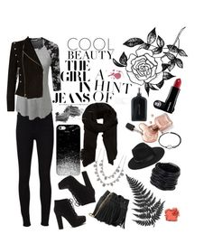 """""""Town life"""" by n-butterfly on Polyvore featuring Givenchy, Frame, LE3NO, Whistles, Forever 21, Saachi, Balmain, Casetify, Lack of Color and MANGO"""