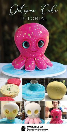 This octopus cake tutorial is the second sculpted cake in my beanie boo series. If you loved the sculpted sea turtle cake, then you'll love this octopus cake tutorial!