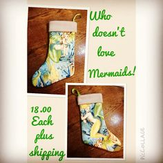 Who loves mermaids! I do. Made this beauty last night. Comes in 2 other colors as well. Perfect for #beachhomedecor #mermaid #stockings #alexanderhenry #mythicalcreatures #christmas just comment below with your PayPal or message me for purchase. by delicate_damn_flower #beachhomedecor