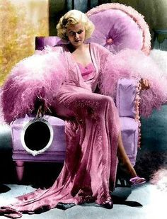 Jean Harlow by Temptress Old Hollywood Glamour, Golden Age Of Hollywood, Vintage Glamour, Vintage Hollywood, Classic Hollywood, Retro Vintage, Mode Poster, Jean Harlow, Everything Pink