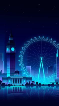 London Eye Ferris Wheel IPhone Wallpaper - IPhone Wallpapers