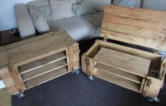 Pallet Coffee Table with Storage | 99 Pallets
