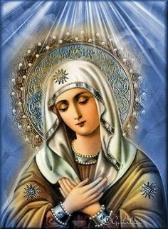 Stunning stained glass of Our Lady. Sweet Mother Mary, pray for us. Religious Pictures, Jesus Pictures, Religious Icons, Religious Art, Mother Mary Images, Images Of Mary, Blessed Mother Mary, Blessed Virgin Mary, Virgin Mary Art