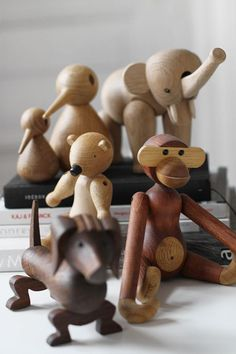 Kay Bojesen - wooden animals.  Danish hand crafting and design in this wonderfully warm material. Its a design classic in Denmark.