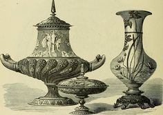 World's Fair of 1876 : Ceramics from the French section, illustrated in Earl Shinn, The masterpieces of the Centennial international exhibition of Ancient Greek Words, Exhibition Building, Architectural Antiques, The Masterpiece, World's Fair, French Artists, Art Museum, Philadelphia, Sculptures