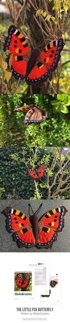 The little fox butterfly amigurumi pattern
