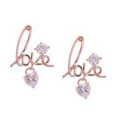Rose Gold Plated Brass Earrings fashionearrings, earring, shopnow, indiapokemongo