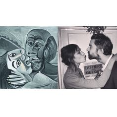 """Mi piace"": 1,140, commenti: 27 - Art-lexa Chung (@artlexachung) su Instagram: """"The Kiss (Le Baiser)"" by Pablo Picasso (1969) / Alexa Chung and Jack Guinness."""