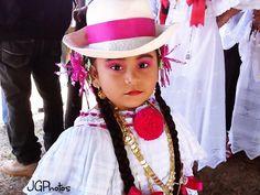 Little girl empollerada (La pollera is the national female costume of Panama)
