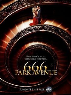 Now watching on ABC: 666 Park Avenue. Creepy. Not sure I'm really into it or not though. We'll see.