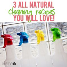3 ALL NATURAL cleaning recipes you will absolutely LOVE!! So excited to not use chemicals in my house anymore!