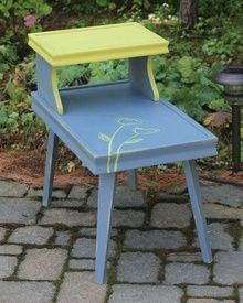 Coast to Cottage - Painted Furniture Annie Sloan Old Violet and English Yellow