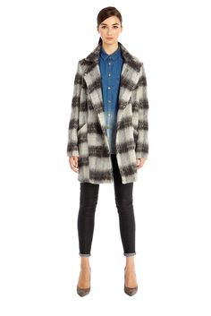 We are massive fans of the checked coat for this winter, this blurred check is fab.