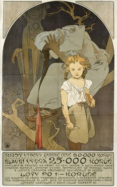 Alphonse Mucha, Exhibition Poster from Vienna (1912)