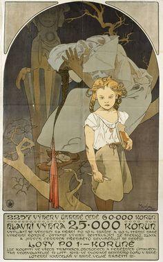 Alphonse Mucha, Exhibition Poster from Vienna (1912)