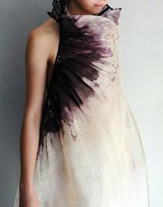 by Aude Tahon from ZsaZsa Bellagio by ajct Designer, Shibori, Textile Texture, Textile Art, High Fashion, Fashion Art, Fashion Design, Dyes, Textiles