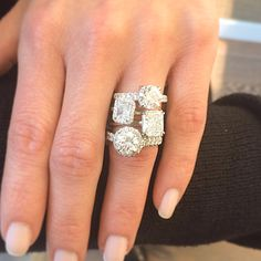 Oval or radiant cut? Which TWO by London diamond engagement ring do you love? Discover more ways to sparkle on this rainy Tuesday at TWO by London Americana Manhasset. #twobylondon #americana #oval #radiant #diamonds #engagement #ringsoftheday #picoftheday #love #bridal #wedding #propose #stackoftheday #sparkle #tuesday #beautiful