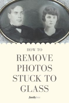 3 Tips for Saving Photos Stuck to Glass Old Family Photos, Family Pictures, Old Photos, Photo Fix, Photo Repair, Photo Software, Professional Photo Lab, Photo Restoration, Photo Storage