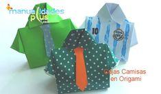 Cajas Camisas en Origami Dia del Padre