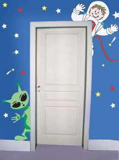 http://www.magic-mural-factory.com/Level_4/WallStory/Space_alien_planet_doorhugger_details.htm    Do it yourself wall murals...  Simple & easy to use  1. Tape up the pattern and transfer paper  2. Trace the lines  3. Paint in the colors