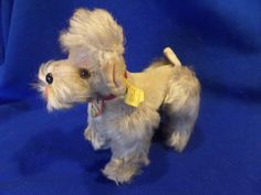 "Vintage German Steiff Small Jointed Poodle ""Snooby"" Dog...Antique Folk Puppy Rustic Toys Poodle Animal Steiff Button Straw Stuffing Mohair by buckeyeantiques on Etsy"