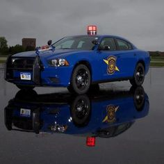 Michigan State Troopers: Dodge Charger Pursuit police car, our neighbors to the East on I-94.
