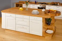 Worktop Express are the UK's leading online solid wood worktop specialists, stocking a large range of full stave oak worktops at highly competitive prices. Kitchen Cabinets Units, Solid Wood Kitchen Cabinets, Kitchen Doors, Kitchen Paint, Beautiful Kitchens, Cool Kitchens, Kitchen Island Centerpiece, Beech Kitchen, Kitchen Carcasses